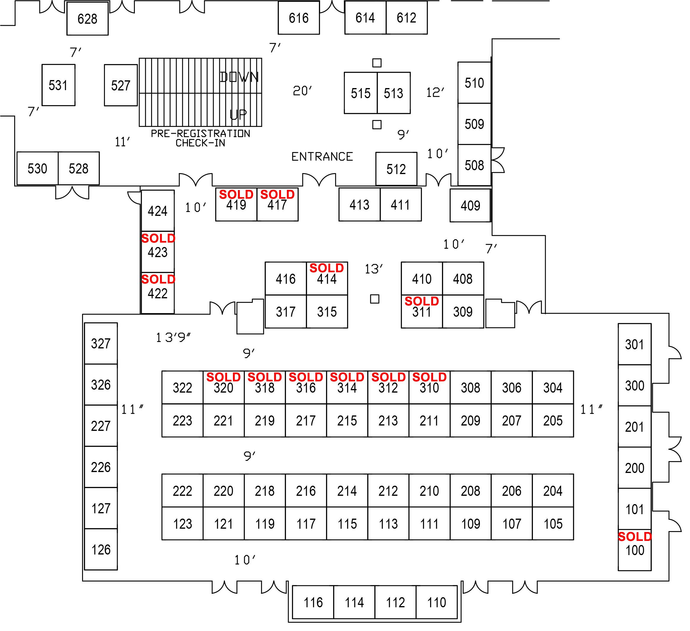 Floorplan at Harveys Sold 417
