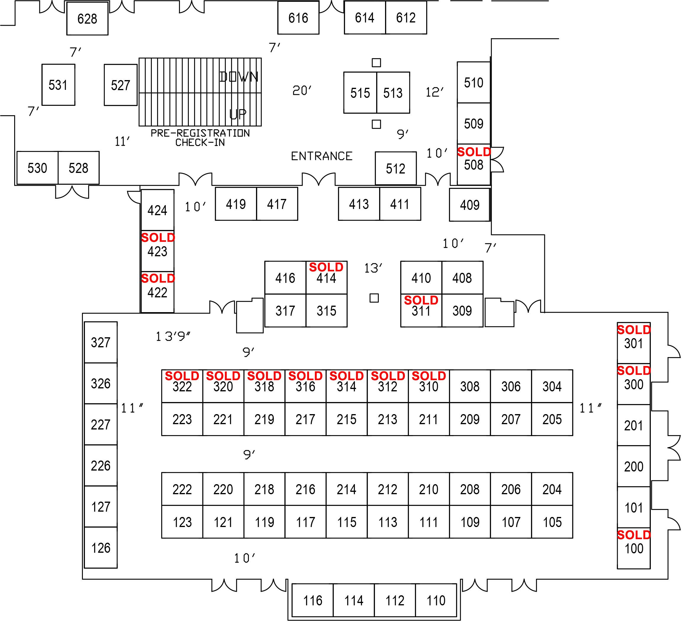 Floorplan at Harveys Sold 92815