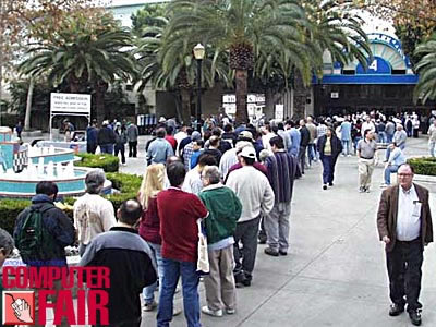 Line at entrance